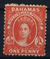 Bahamas: SG 25 Vermilion Wmk CC  Perfo 12,5   Not Used (*) SG - Bahamas (...-1973)