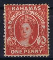 Bahamas: SG 33 Scarlet Wmk CC  Reversed  Perfo 14   Not Used (*) SG - Bahamas (...-1973)