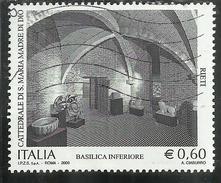 ITALIA REPUBBLICA ITALY REPUBLIC 2009 PATRIMONIO ARTISTICO CATTEDRALE SANTA MARIA MADRE DI DIO RIETI USATO USED OBLITERE - 6. 1946-.. Repubblica