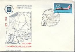 100 JAHRE NORDPOLAR EXPEDITION DEUTSCHE DEMOKRATISCHE REPUBLIK YEAR 1970 ENVELOPE EX COLLECTION VOZENESENSKI