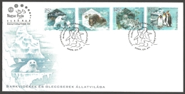 Hungary - Preserve The Polar Regions And Glaciers, FDC With Stamps, 2009