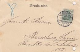 DRUCKSACHE GERMANY.   21 2 1908.  HEGEWALD DRESDEN ALTST 1  TO BARCELONA