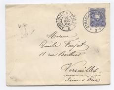Allemagne (Empire) Lettre De Strassburg Pour Versailles, Cachet Convoyeur Avricourt à Paris 1889 - (F146)