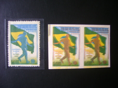 WORLD CUP OF FOOTBALL IN BRAZIL 1950 - A-76 IN PAIR TESTS COLORS DISPLACED IN THE STATE