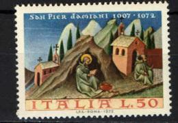 ITALIA - 1972 - 9° CENTENARIO DELLA MORTE DI SAN PIER DAMIANI - NUOVO MNH