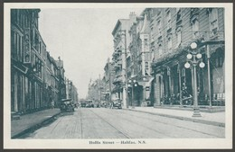 Hollis Street, Halifax, Nova Scotia, C.1910s - Novelty M&A Co Postcard - Halifax