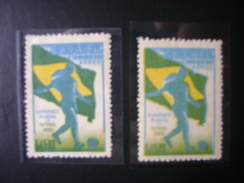 WORLD CUP OF FOOTBALL IN BRAZIL 1950 - A-76 YELLOW COLOR WITH SMALL SHIFTING