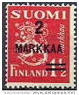 Finland 1937 Opdruk 2markkaa-1½ Mk Leeuwentype II PF-MNH-NEUF