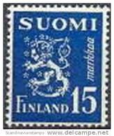Finland 1948 15mk Blauw Leeuwentype M/30 PF-MNH-NEUF