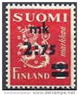 Finland 1940 Opdruk 2.75-2.00mk Leeuwenzegel Type II PF-MNH-NEUF