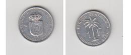 1959 BELGISCH CONGO - CONGO BELGE 1Fr RUANDA - 1951-1960: Baudouin I