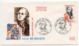 - FRANCE - FDC TOULON 9.9.1972 - AMIRAL DE GRASSE - 1781 BAIE DE CHESAPEAKE -