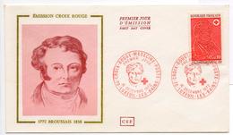 - FRANCE - FDC LUXEUIL-LES-BAINS 16.12.1972 - EMISSION CROIX ROUGE - BROUSSAIS -