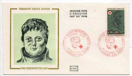 - FRANCE - FDC LUXEUIL-LES-BAINS 16.12.1972 - EMISSION CROIX ROUGE - DESGENETTES -