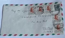 ITALIA 1967 - (271) LETTERA  PER LA LIBIA POSTA AEREA