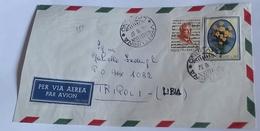 ITALIA 1967 - (274) LETTERA  PER LA LIBIA POSTA AEREA