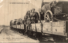 NANTES TRAIN SANITAIRE ANGLAIS - Guerre 1914-18