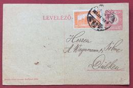 UNGHERIA HUNGRY  CARTOLINA  POSTALE  10 F. DA DA BUDAPEST A  DÜLKEN In Data 29/6/1923