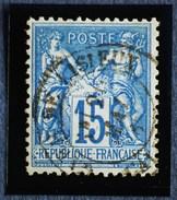 Sage N°90.Type II Ob.(CAD) Gare De LISIEUX.20 Mai 1885