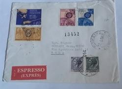 ITALIA 1967 - (278) LETTERA  PER LA LIBIA POSTA AEREA