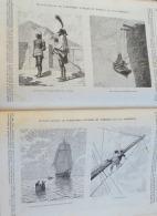 LE VOLEUR1886N°1538: STEFANO MERLATTI 50EME JOUR DE JEUNE/LIVRE ILLUSTRE AVENTURES VOYAGES ET COMBATS PAR LOUIS GARNERAY - 1850 - 1899