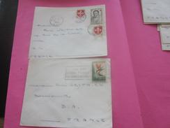 France (ex-Colonie Française) Algérie 1950-62-  2 Lettres & Document OMEC - Flamme(Timbre De Collection)ALGER - NICE-BAR - Algeria (1924-1962)