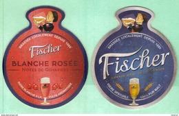 Sous-bocks FISCHER  Biere Brassée Ile De LA REUNION Océan Indien. Scanne Recto/verso - Beer Mats