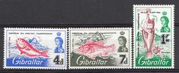 Gibraltar 1966  Mi.nr:.179-181 Europameisterschaften Im Hochseeangeln  NEUF SANS CHARNIERE / MNH / POSTFRIS