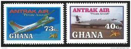 Ghana 2007 Antrak Air Private Aircraft MNH - Ghana (1957-...)