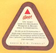 1 S/b Bière Bass (recto-verso) - Portavasos