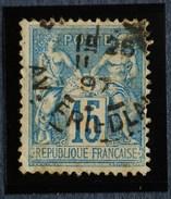 Sage N°90.Type II Ob.(CAD) PARIS Av Friedland 1897.( Bur 42 )