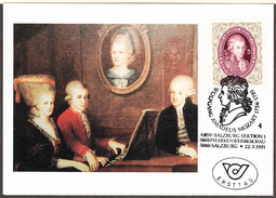 AUTRICHE - 1991 - Mozart - Yvert 1851  Carte FDC