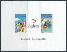 ANDORRE - EPREUVE DE LUXE - Tourisme Et Sports En Andorre - 2 Scans
