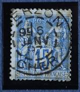 Sage N°101.Type II Ob.(CAD) VIERZON 6 Janv 1897.