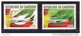 Cameroun Cameroon 2011 CamAir Co First Flight Douala-Paris Yv. 928/9 Mint Set - Kameroen (1960-...)