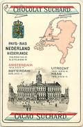 Pays Div-ref J204- Pays Bas - Hollande - Holland - Carte A Jouer 12,5cms X 8,5cms - Chocolat Suchard  - Bon Etat - - Suchard