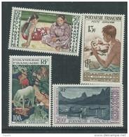 Polynésie PA N° 1 / 4  X  Les 4 Valeurs  Trace De Charnière Sinon TB