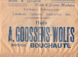 Pub Reclame - Zak - Verf Meubelen Huis Goossens - Wolfs - Bouchaute - Boekhoute ? - Advertising