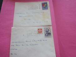 France(ex-Colonie Française)Algérie 1950-62-  2 Lettres & Document OMEC-Flamme(Timbre De Collection)ALGER  BARCELONNETTE - Algeria (1924-1962)