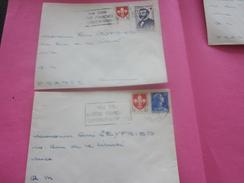 France(ex-Colonie Française)Algérie 1950-62-   2 Lettres & Document OMEC Flamme(Timbre De Collection)ALGER    NICE - Algeria (1924-1962)