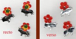 3 Petites épingles Avec Toro / Taureau (distribuées à L'entrée Des Arènes ? ) - Sports