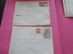 France(ex-Colonie Française)Algérie 1950-62-   2 Lettres & Document OMEC Flamme(Timbre De Collection) ALGER     NICE - Algeria (1924-1962)