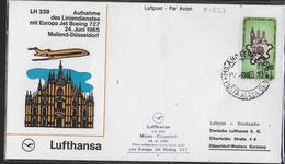 PRIMO VOLO DI RITORNO LUFTHANSA LH339 DA MILANO A DUSSELDORF CON B/727- 24.06.1965