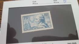 LOT 355159 TIMBRE DE FRANCE NEUF** N°313 VALEUR 45 EUROS