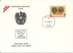 Austria FDC 14-3-1980 RED CROSS Anniversary