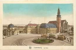 Pays Div-ref J195- Luxembourg Ville - Luxemburg - La Gare   -carte Bon Etat  - - Luxemburg - Town