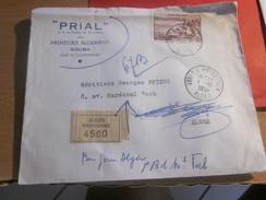 """France( Colonie Française)Algérie 1959 Lettre à Entete""""Recommandé""""CAD Manuel Timbre Collection) KOUBA(Constantine) ALGER - Lettres & Documents"""