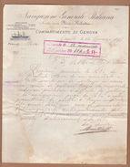 AC - NAVIGAZIONE GENERALE ITALIANA 1898 FLORIO E RUBATTINO COMPARTIMENTO DE GENOVA - Italia