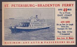 ST  PETERSBURG - BRADENTON FERRY - Fähren