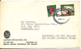 New Zealand Cover Inaugural Air New Zealand Jet Flight Souvenir Cover 3-10-1965 (the Cover Is Bended) - Nouvelle-Zélande